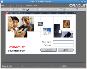 Oracle Applications Login