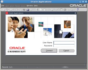 Oracle Applications Login