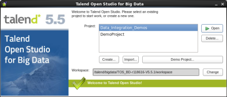 Talend Open Studio Big Data Choose Project