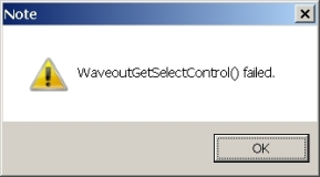 WaveOutGetSelectControl_Failed